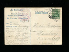 Zeppelin Sieger 3 1912 Viktoria Luise PioneerZepFlight Schwerin Drop on Zep Card