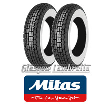 Set of 2 x MITAS B13 400 x 8 WHITEWALL SCOOTER TYRES for Lambretta LD, D, LC etc