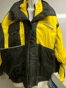 LADIES ICE RIDER SNOWMOBILE MUSTANG JACKET,NEW,SIZE 14 OR 16,BLACK/YELLOW/SILVER