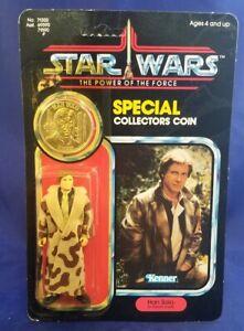 Vintage Kenner Star Wars POTF Han Solo ( Trench Coat) 92-Back MOC