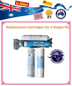 4 Stages Reverse Osmosis Purifier Water Filter Replacement 50gpd Membrane