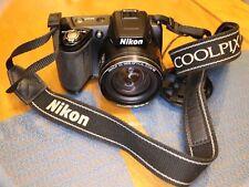 Nikon CoolPix L110 12.1 MP Black Digital Camera Works Great no charger