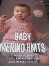 SHEPHERD BABY MERINO KNITS KNITTING PATTERN BOOK NO 2004,NEW 2017