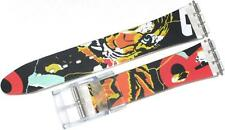 WATCH BAND SWATCH PVC 17MM CLEAR/MULTI COLORED MEN'S 1140