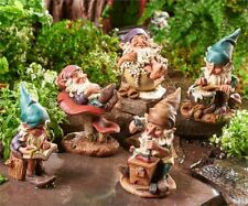 FAIRY GARDEN Miniature ~ Woodland Gnomes – Set of 5 ~ Mini Dollhouse