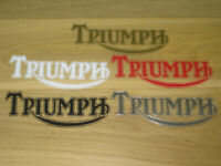 2 TRIUMPH Decals Stickers Colour Motorbike Racing Motorcycle Tank Fairing Helmet