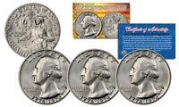 1976 S Washington Bicentennial Quarter Gem BU 40% Silver w/COA & CAPSULE - QTY 3