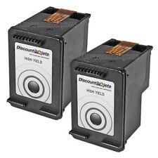2Pk CC641WN 60XL 60 XL BLACK Ink Print Cartridge for HP Photosmart C4640 C4650