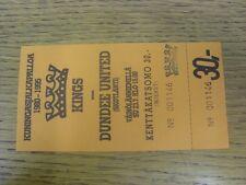 23/07/1995 Ticket: Kuningasjalkapalloa v Dundee United [Friendly] (complete).  T
