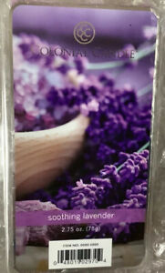 2 COLONIAL CANDLE SOOTHING LAVENDER WAX MELTS 6 Per PACKAGE - 12 Total