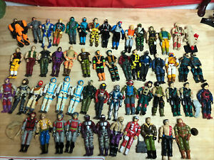 Vintage 3.75 Inch Hasbro 1984-1993 Gi Joe ARAH Cobra 55 Figure Lot