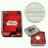 DISNEY STORE STAR WARS FORCE AWAKENS COLLECTOR TIN with MEDALLION PIN LE 1000