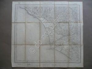 Carta Militare Cerveteri IGM Ladispoli Bonifica Maccarese Castel Ponziano 1895