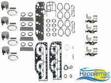 "Mercury 100 115 125 HP L4 Powerhead Rebuild Kit 3.375"" Piston Gasket 89-91"
