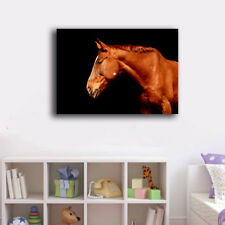 70×100×3cm One Brown Horse Canvas Print Framed Wall Art Home Decor Painting Gift