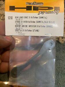 HPI RACING Rear Lower Brace B 6X70X4MM (Gunmetal) #102168