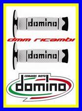 Manopole Cross Domino DSH Tommaselli Moto Scooter Enduro Motard Nero Bianco