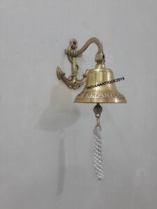 Nautical Hanging Ship Bell Brass Anchor Door Bell Home Decor