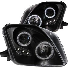 Headlight Assembly-Projector with Halo Clear Lens LED Black Anzo 121341