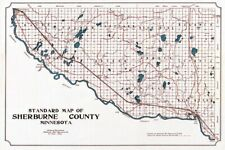 1913 Map of Sherburne County Minnesota