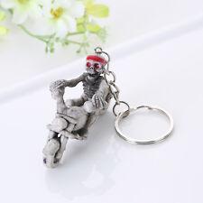 Rubber Keychain Keyring Key Chain Chain Bag Charm Pendant gift Skull motorcycle