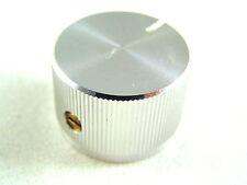 "Solid Aluminium 26mm Control Knob Fits 1/4""(6.4mm) Shaft Grub Screw Fix OM0326A"