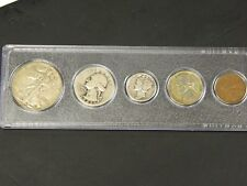 1942 Year Set, All 5 Coins Cent thru the Half Dollar Complete Set