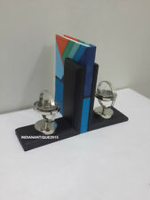 Royal Bookend Nautical Gimble & Natural Wood Bookends Book Decorative