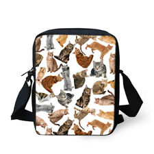 Cute Cat Small Messenger Shoulder Bags Women's Handbag Purse Cross Body Bags