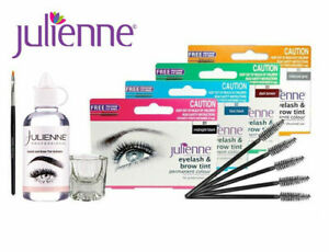 Julienne Professional Tinting Eyelash & Eyebrow Dye Tint or Lash Kit  All Colors