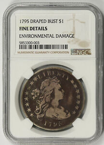 1795 Draped Bust Dollar Silver $1 Fine Details NGC