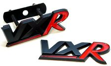 VAUXHALL VXR BADGE SET BLACK & RED REAR TAILGATE FRONT GRILL VXD OPEL NON CHROME