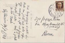 ITALIA 1943 OCCUPAZIONE LUBIANA CARTOLINA PER ROMA
