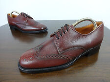 Mens shoes size 9 Vintage John White all leather classic brogues New without box