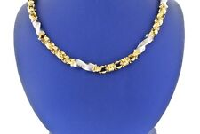"""Fancy 14k Two Toned Gold Men's Link Chain Necklace, 39gm, 26"""" S103776"""