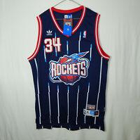 NWT Hakeem Olajuwon #34 Houston Rockets NBA Basketball Jersey ADIDAS Size XL