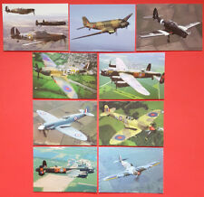 Set of 9 New Postcards RAF Battle of Britain Memorial Flight,Hurricane, Spitfire