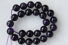 Large High Grade Genuine Amethyst Round Smooth Beads 16mm - 16 Inche Strand