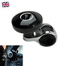 Black Car Hand Control Steering Wheel Spinner Knob Aid Booster Ball BL Logo