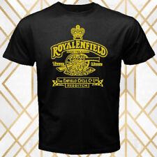 Royal Enfield Classic Motorcycle Logo Men's Black T-Shirt Size S - 3XL