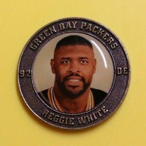 Reggie White RARE 2007 Legends NFL Medallion Green Bay Packers 50 Football Team