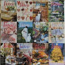 Lot of 12 VICTORIA MAGAZINE COMPLETE THIRTEENTH VOLUME 1999 Vol. 13 No. 1-12
