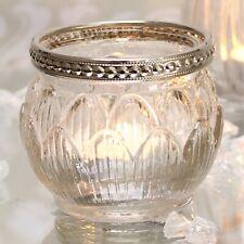 Private listing for snowjackstar Tea light holders x 15 Clear Glass Metal rim