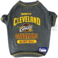 Cleveland Cavaliers NBA Pets First Dog Pet Tee Shirt Gray,  Sizes XS-L