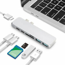 USB-C Hub Dual Type-c Multiport Card Reader Adapter HDMI 7 in 1 for Macbook Pro