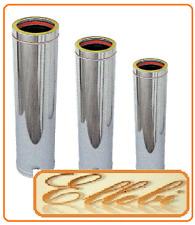 Tubo inox doppia parete per canna fumaria  Ø 150 interno Ø 200 esterno  mm 1000