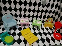 Vintage Fisher-Price Play Family Little People Lot Furniture