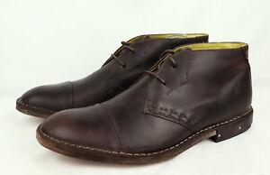 FLY London HANDMADE Brown Leather Chukka Boots EU 44, *UK 10, *US 11