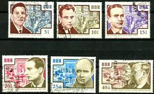 Germany DDR 1964 Anti-Nazi Martyrs Complete Set 6 USED S/P Scott's B112 to B117