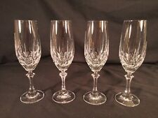 4 Crystal Champagne Fluted Glasses